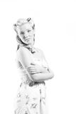 Young Woman In Short Modest Dress Royalty Free Stock Image