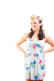 Young Woman In Short Modest Dress Stock Photography