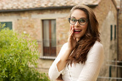 Young woman shout and scream Royalty Free Stock Images