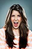 Young Woman Shouting Royalty Free Stock Images