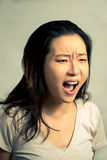 Young woman shouting Stock Image