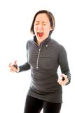 Young woman shouting in frustration Royalty Free Stock Image