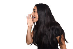Young woman shouting and screaming Stock Photography