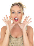 Young Woman Shouting Screaming Calling Royalty Free Stock Photos