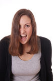 Young woman shouting Royalty Free Stock Photography