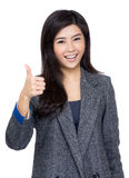 Young woman show thumb up Stock Photos