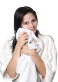 Young woman after shower Royalty Free Stock Photography