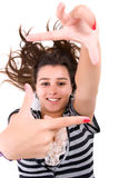 Young Woman Showing Framing Hand Gesture Royalty Free Stock Photography