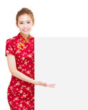 Young woman  with showing gesture Stock Image