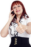 Young woman showing hand ok sign Stock Photography
