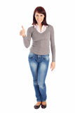 Young Woman Showing OK Sign Royalty Free Stock Photo
