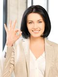 Young woman showing ok sign Stock Photography