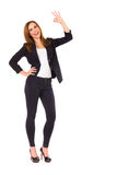 Young woman showing ok sign. Stock Photography