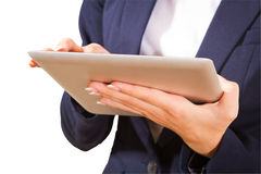 Young woman showing tablet PC, Stock Images