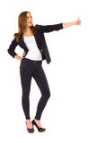 Young woman showing thumb up. Stock Image