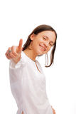 Young woman showing a thumbs up Stock Photography