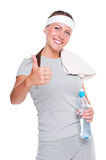 Young woman showing thumbs up Royalty Free Stock Photos