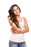 Young woman showing thumbs up Royalty Free Stock Images