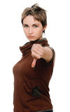 Young woman showing a thumbs up Royalty Free Stock Images