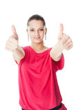 Young woman showing thumbs up Royalty Free Stock Image