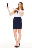 Woman with a mobile phone. Royalty Free Stock Photography
