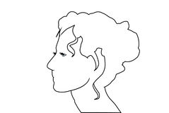Young woman silhouette Royalty Free Stock Photos