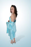 Young woman in silk negligee Royalty Free Stock Photos