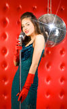 Young woman singer Stock Image