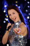 Young woman singing Stock Photos