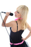Young woman singing Royalty Free Stock Photography