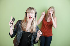 Young Woman Singing Loud Royalty Free Stock Photography
