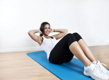 Young woman sit up Stock Image