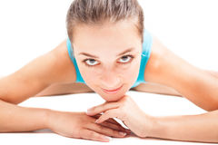 Young woman sits on the splits Stock Photography