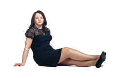 Young woman sitting on the floo Royalty Free Stock Images