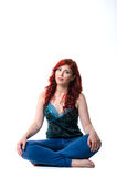 Young woman sitting on the floor Royalty Free Stock Images