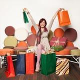 Happy shopaholic Royalty Free Stock Photo