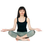 Young woman sitting yoga posture Royalty Free Stock Photos