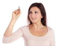 Young woman sketching Stock Images