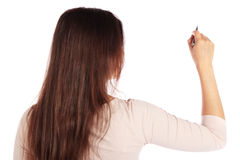 Young woman sketching Royalty Free Stock Photos