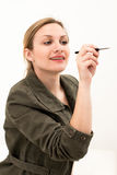 Young woman sketching Stock Photos