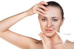 Young woman skin care concept. Stock Photos