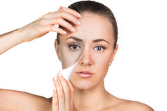 Young woman skin care concept. Stock Photography