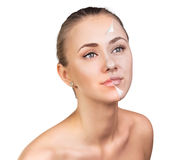 Young woman skin care concept. Stock Photo
