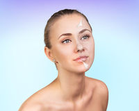 Young woman skin care concept. Royalty Free Stock Photos
