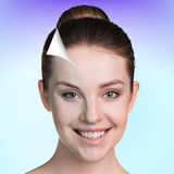 Young woman skin care concept. Stock Images