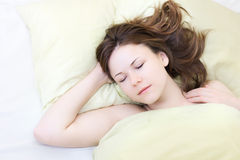Young Woman Sleeping Stock Image