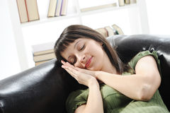 Young woman is sleeping Royalty Free Stock Image