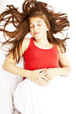 Young woman sleeping Stock Photo