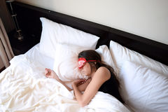 Young woman sleeping Stock Photography