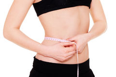 Young woman with slender waist Stock Photography